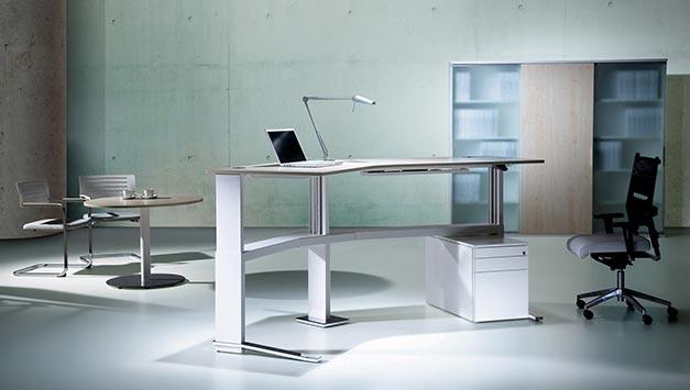 höhenverstellbarer Schreibtisch/Steh-sitz | sitz-art Lübeck